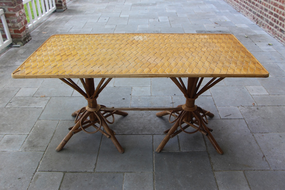 vintage chestnut dining table