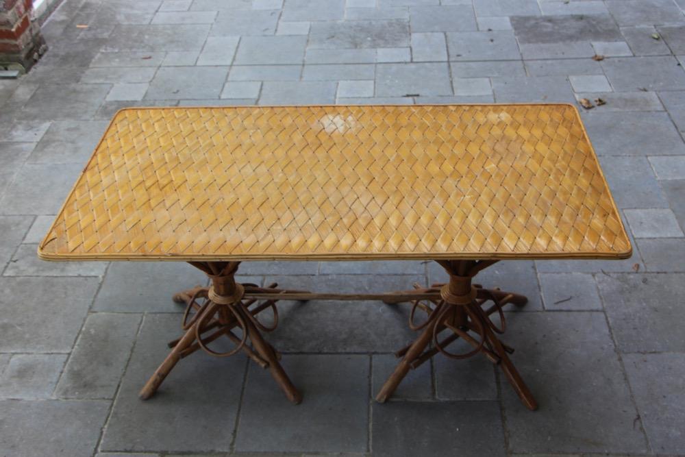 vintage chestnut dining table