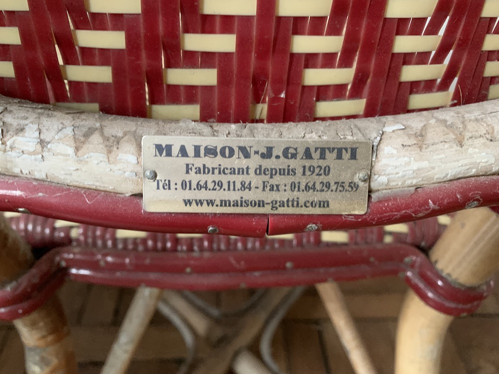 Maison Gatti, vintage chair, chaise vintage, chaise bistrot, chaise bistrot paris, bistrot chair, garden chair, outdoor chair, French chair, chaise jardin, chaise terrasse, mobilier vintage, vintage furniture , mid modern, modernism, bamboo chair, bamboo, chaise bambou