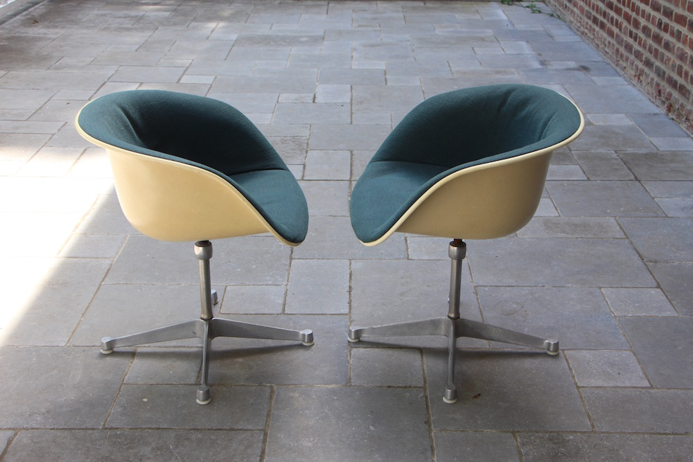 Eames La Fonda desk chairs, vintage