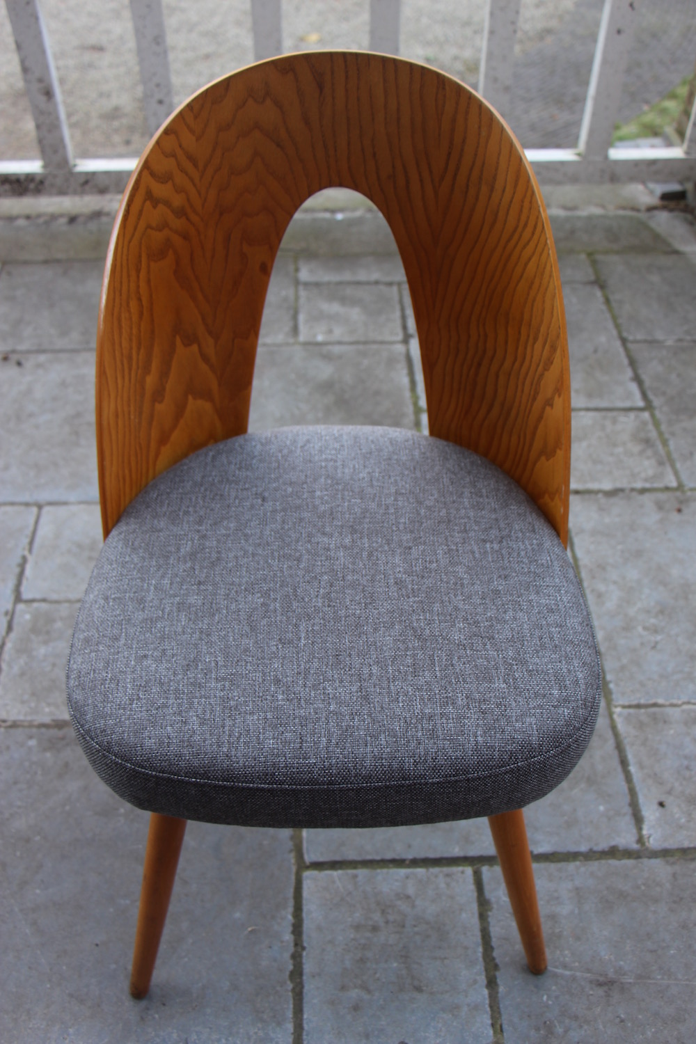vintage set of Tatra dining chairs by Ton