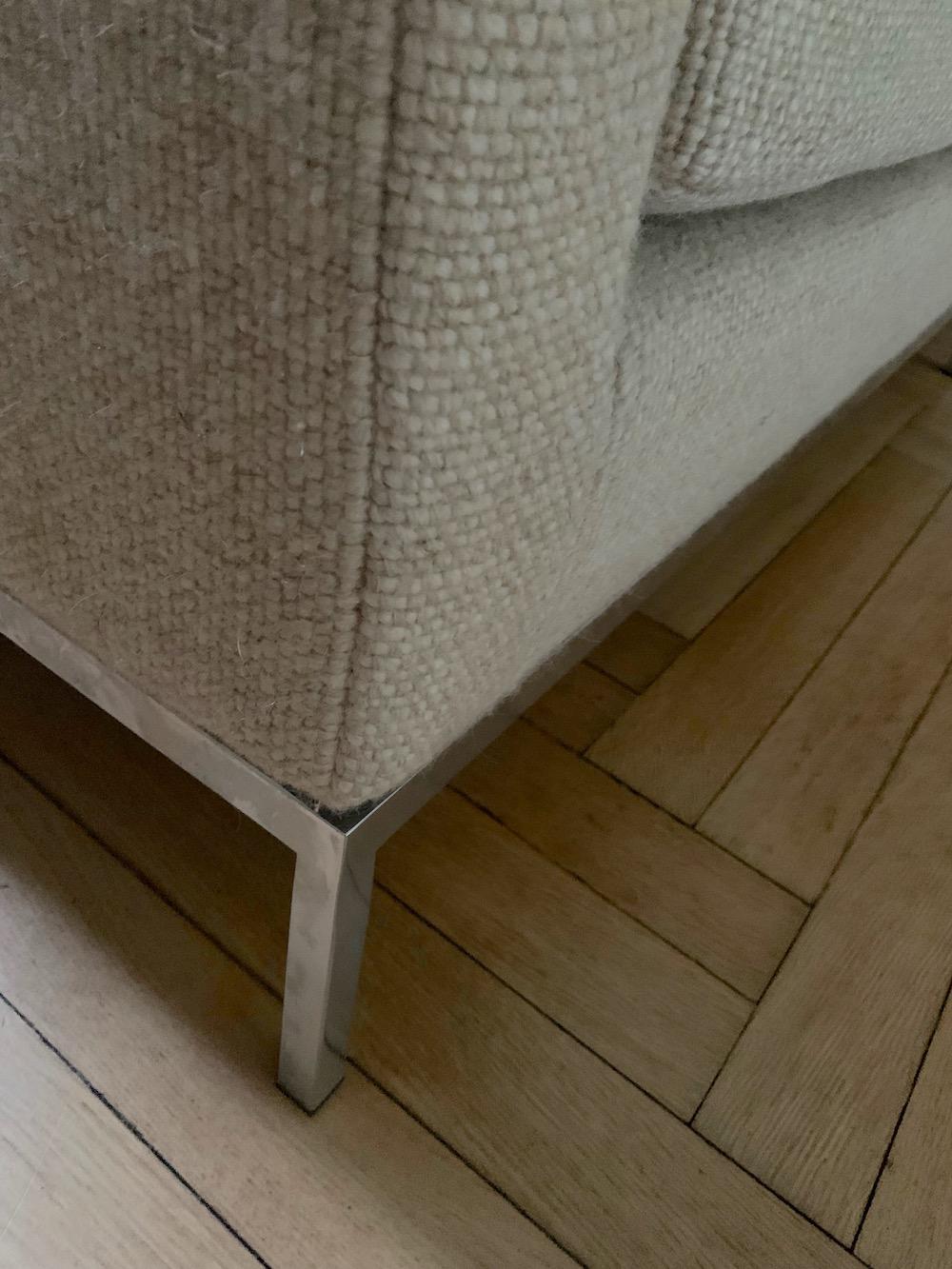 Florence Knoll, vintage sofa, 3 seater, sofa for three, 3-seater, wool sofa, Florence Knoll sofa, modern sofa, modernist sofa, living room, design sofa, midcentury sofa, Florence Knoll model 67A, vintage couch, Knoll couch, Knoll sofa