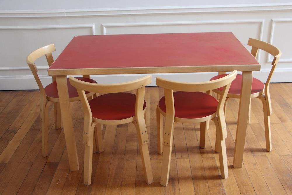 vintage Alvar Aalto dining set