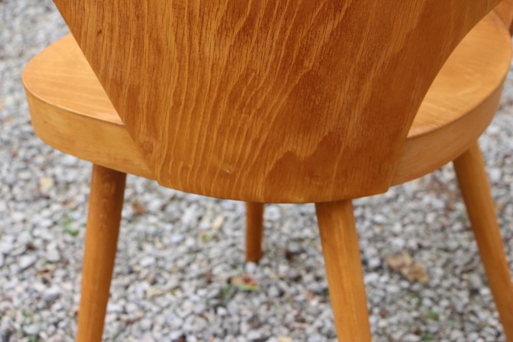 vintage set of Oswald Haerdtl chairs for Ton