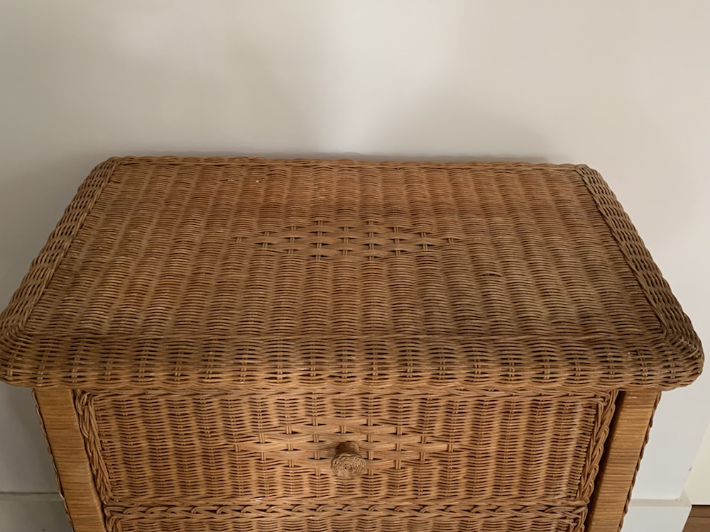 chest of drawers, vintage chest of drawers, rattan furniture, rattan, commode, commode rotin, rotin, meuble rotin, bohemian furniture, boho vintage, boho furniture, vintage
