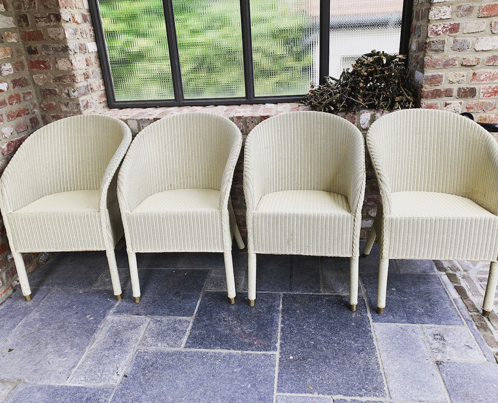 lloyd loom, Vincent Sheppard, lounge chairs, garden chairs, country style garden chairs, chaises de jardin, chaises rotin, rattan chairs, mobilier rotin